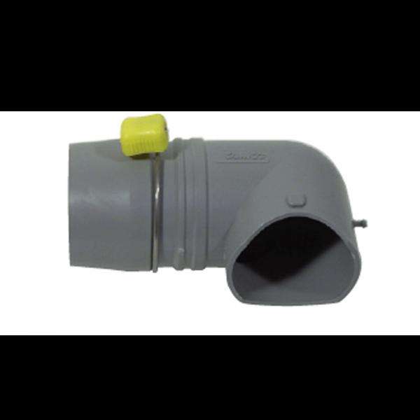 Easy Slip 90°-Schlauchanschluss 3 Zoll
