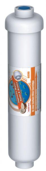 Aktivkohlenachfilter 2' (Kokosnussschalenkohle),weiss, 1/4' IG
