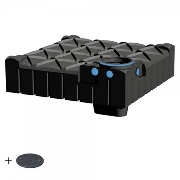 Flachtank F-LINE 3000 Liter BASIC mit Deckel TopCover - das Original -