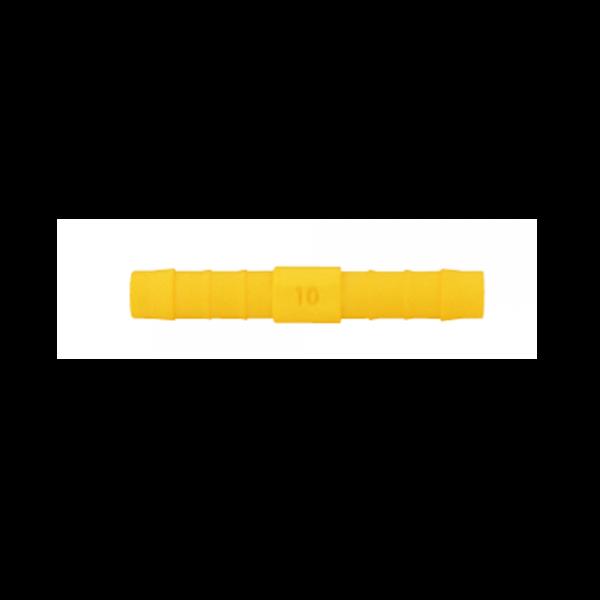LILIE-Gerader-Verbinder-WeißGELB 10mm