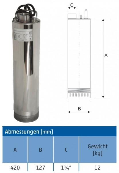 Tauchpumpe ACUA 5-40 5 Zoll frachtfrei