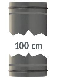 Rohr 1 m, beidseitig mit O-Ringen
