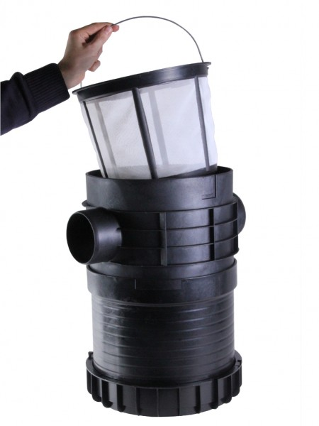 PLURAFIT Filter mit Filterkorb Tank- einbau mit Anschluss f. Zulaufberuhigung