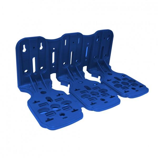 Kunststoff Dreifach-Montagerahmen blau für 10 Zoll Filtergehäuse
