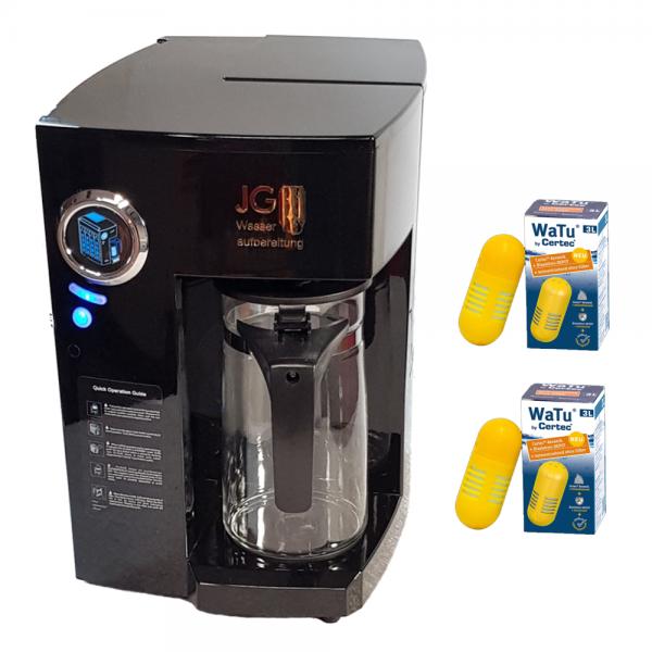PERFECT-WATER UP ONE-STEP Schwarz Auftischosmoseanlage Quick Filterwechsel