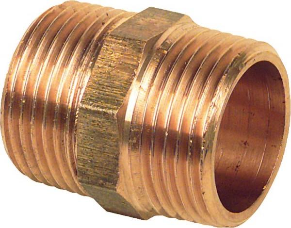 Gewindenippel Doppelnippel Messing 1' AG x 1' AG