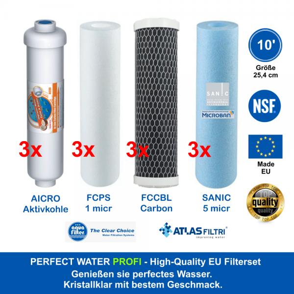 10' Zoll Sparset High Quality Made EU 1,5 Jahre 25,4 cm f. Standardgehäuse