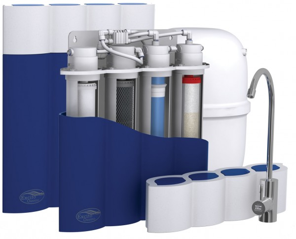 Excito-Ossmo 4-Stage RO water filtration mit EASY Quick Filterwechsel