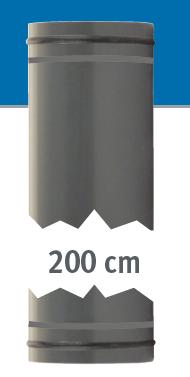 Rohr 2m, beidseitig mit O-Ringen