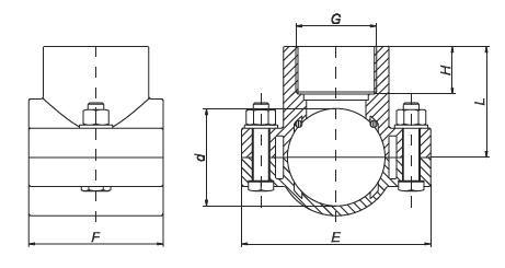 PP Anbohrschelle PN10, 75x1 1/4' ohne Verstärkungsring