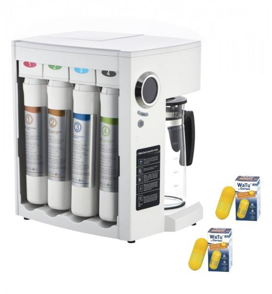 PERFECT-WATER UP ONE-STEP Weiß Auftischosmoseanlage