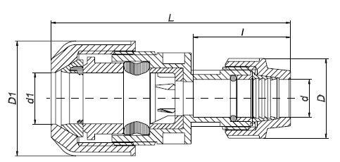 PP Spezialkuppl. f. Überg. v. PE auf andere Werkstoffe 15-22x20