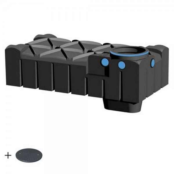 Flachtank F-LINE 1500 Liter BASIC mit Deckel TopCover - das Original -