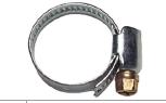 Schlauchschelle verzinkt 8-12mm
