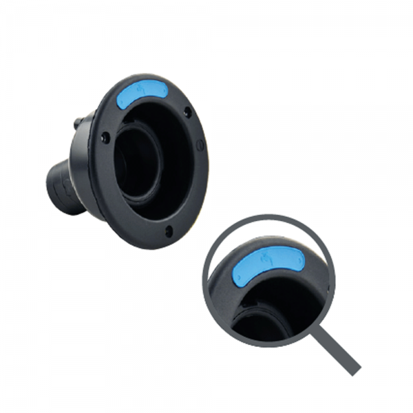 Wasser-Einfüllstutzen 40mm schwarz