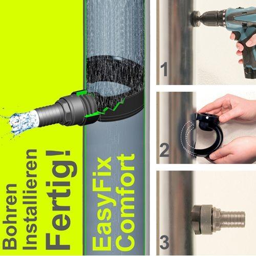 3P Regensammler EasyFix Comfort anthrazit