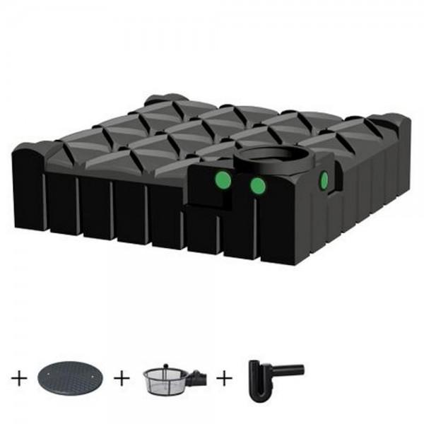 Regenwassertank flach 3000 l inkl. Filter mit viel Zubehör