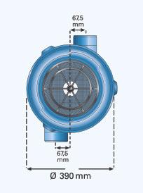 3P Retentions- / Versickerungsfilter Maße Draufsicht