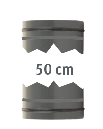 Rohr 0,5m, beidseitig mit 0-Ringen