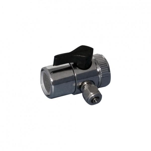 Wasserhahn Adapterstück m. Bypass-Ventil für FHCTF Filterserie, Messing verchromt