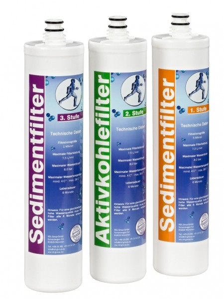 Filtersatz für Vitalquell Umkehrosmose Wasserfilter