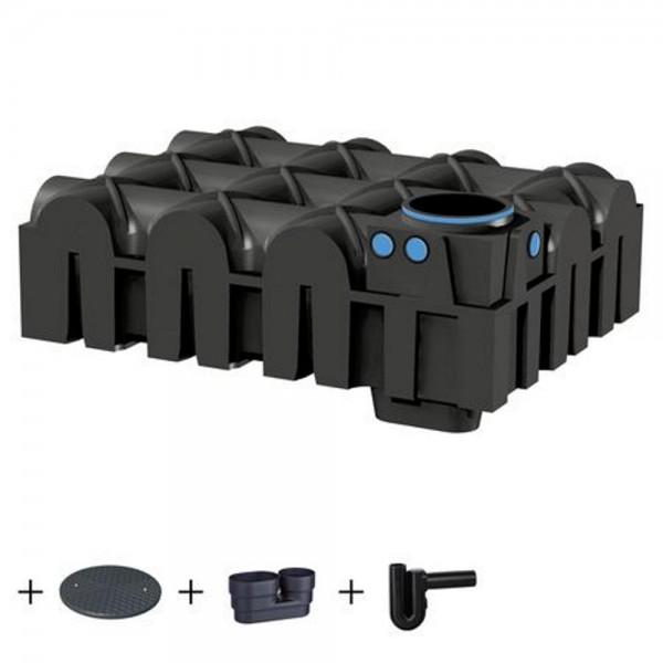 Flachtank F-LINE 5000 Liter STANDARD Deckel Zulaufberuhiger Siphon