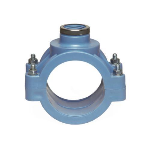 PP Anbohrschelle mit Verstärkung PN 16 (blau) 90 x 1 1/4'