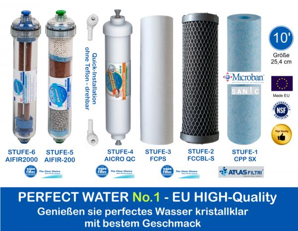 High Quality Filterset 10' Perfect Water No 1 Ionisierung und Alkalisierung