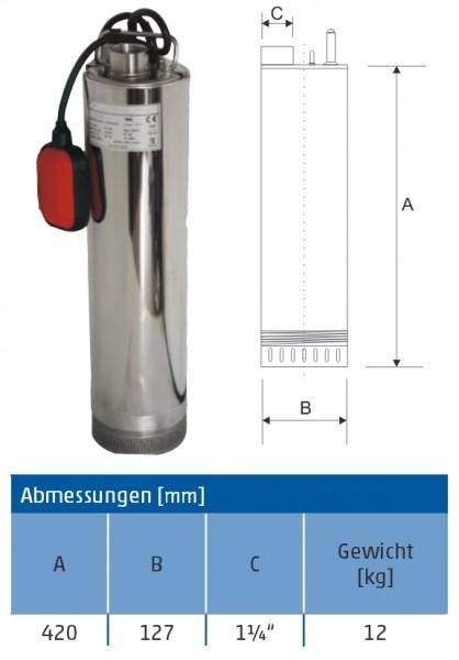 Tauchpumpe ACUA 5-40 A 5 Zoll frachtfrei
