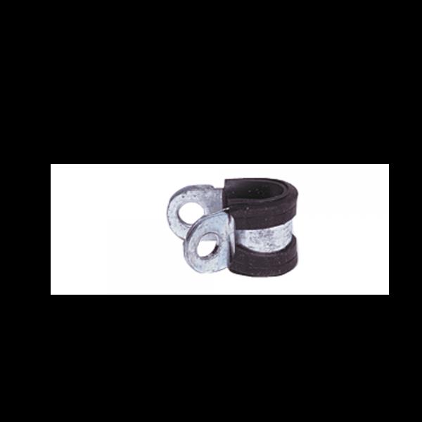 Gas-Rohrschelle mit Gummiprofil 8mm