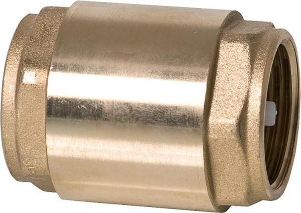 Rückschlagventil aus Messing mit Metalleinsatz und Vitondichtung 1'
