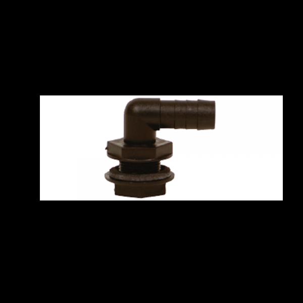 Winkel-Tülle PP 3/4 Zoll x 25mm