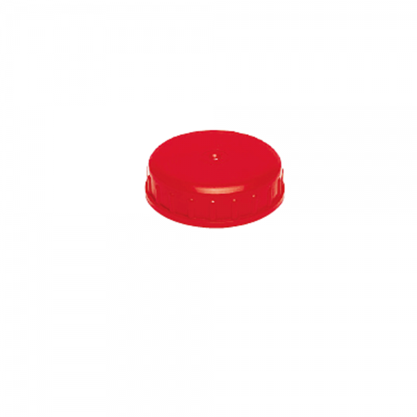 Schraubdeckel AG D= 100mm mit Dichtung rot