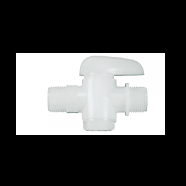 Absperrventil PE 1/2 ZollA x 10/12mm
