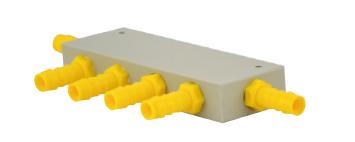 Wasser-Verteilerblock komplett mit 6 Abgängen