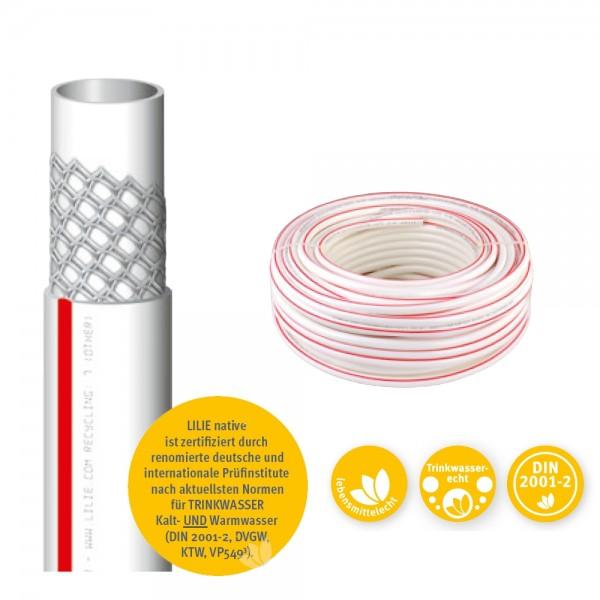 Trinkwasserschlauch Warm 10x18mm, Preis pro Meter min Abnahme 50m