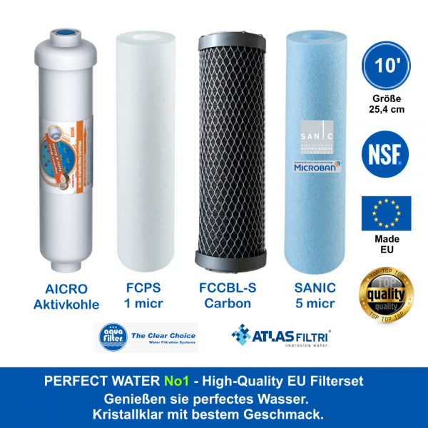 High Quality Filterset 10' Perfect Water No 1
