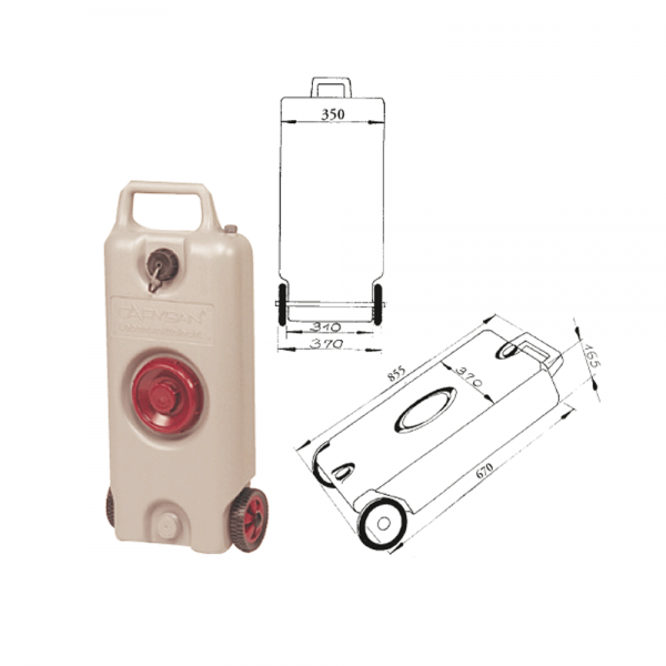 Wassertank-Aquamobil 35l grau