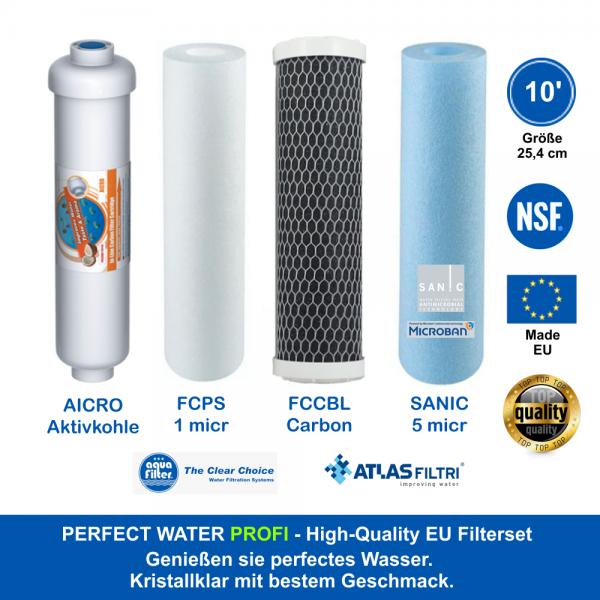 10' Zoll Filterset High Quality Made EU 1/2 Jahr 25,4 cm f. alle Standardgehäuse