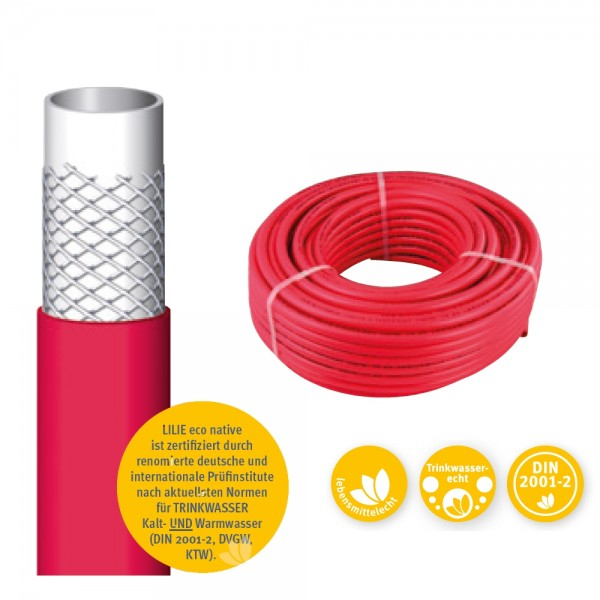 LILIE eco native 10x15mm, Warmwasser Preis pro Meter min Abnahme 50 m
